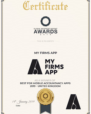 MyFirmsApp Wins 'Best for Mobile Accountancy Apps 2019' in Global Business Insight Awards