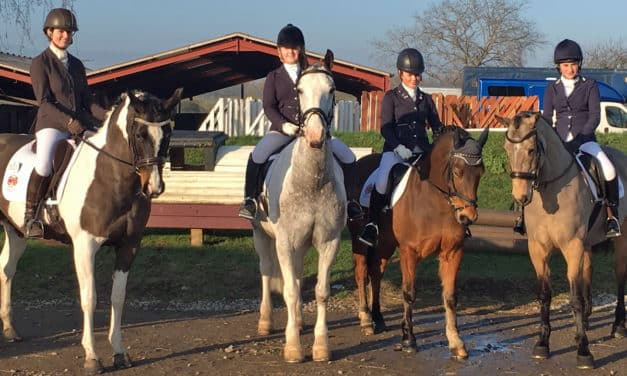 Girls' teamwork will see them represent County Durham at the National Schools' Equestrian Association championships