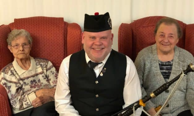 Burns Night celebrations at Teesside care home