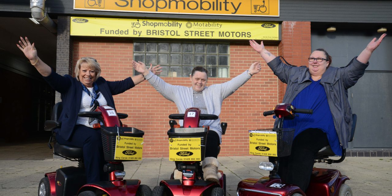 Bristol Street Motors steps in to save Hartlepool's Shopmobility scheme