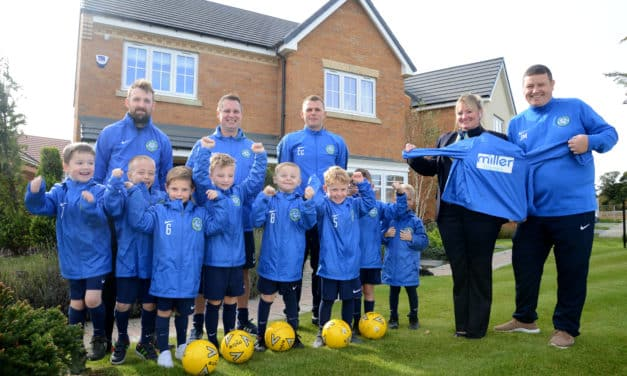 NORTHUMBERLAND YOUNGSTERS SCORE FOOTBALL SPONSORSHIP FROM MILLER HOMES
