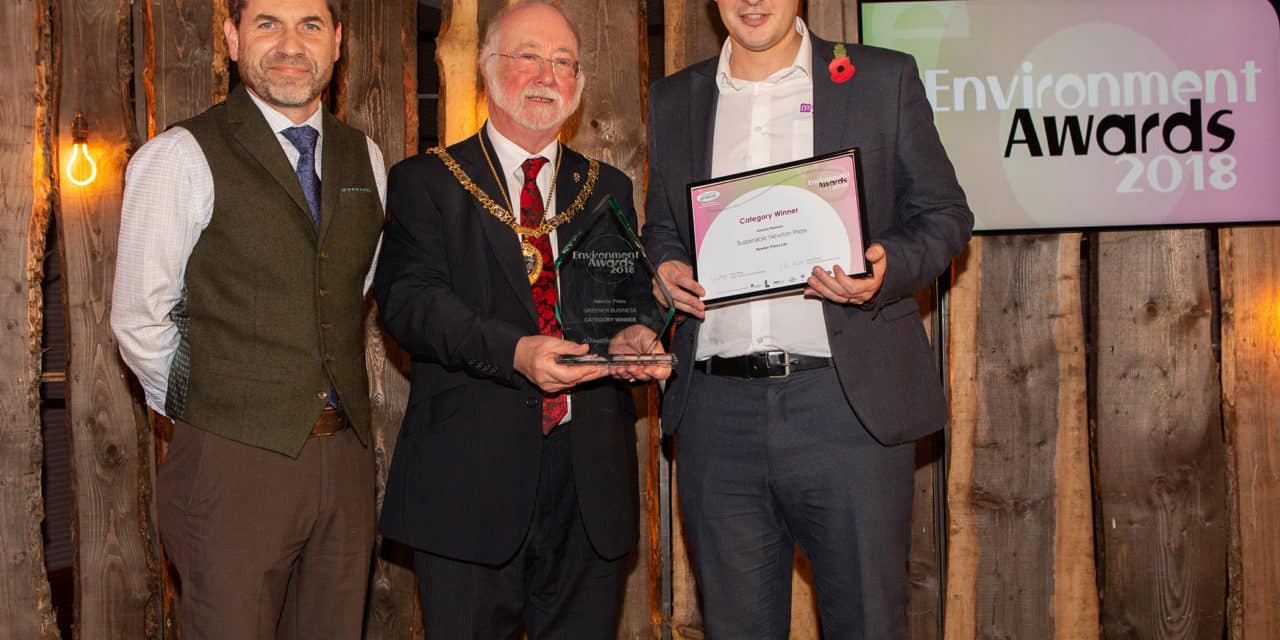 Newton Press Winners of 'Greener Business' at the Environment Awards 2018