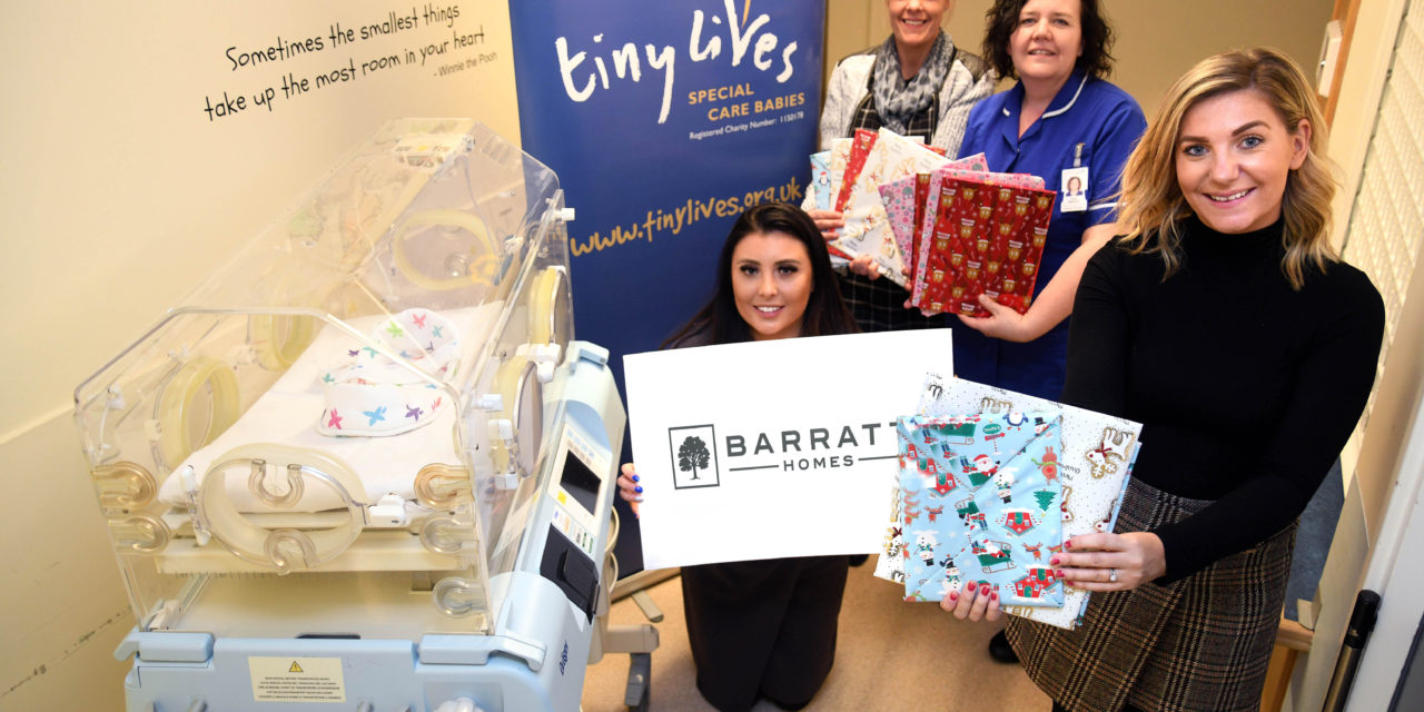 Five star housebuilder gifts special Christmas presents to families supported by The Tiny Lives Trust in hospital