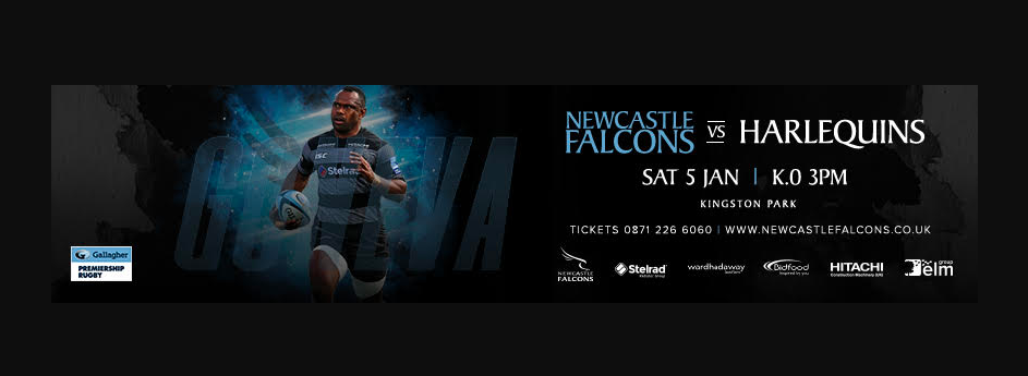 Newcastle Falcons team to face Harlequins