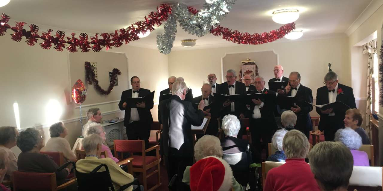 Choir singers celebrate care home resident's 96th birthday