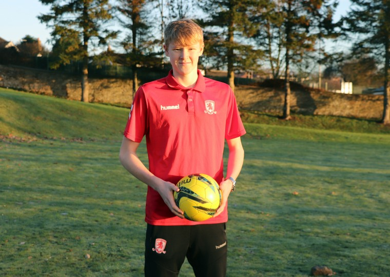 Josh strikes a scholarship with Middlesbrough