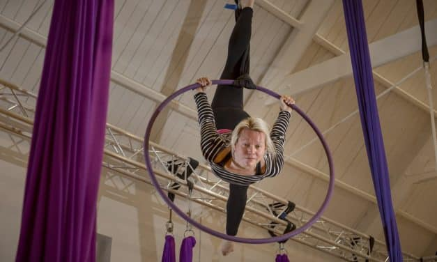 Acrobatic lecturer flying high to help other women