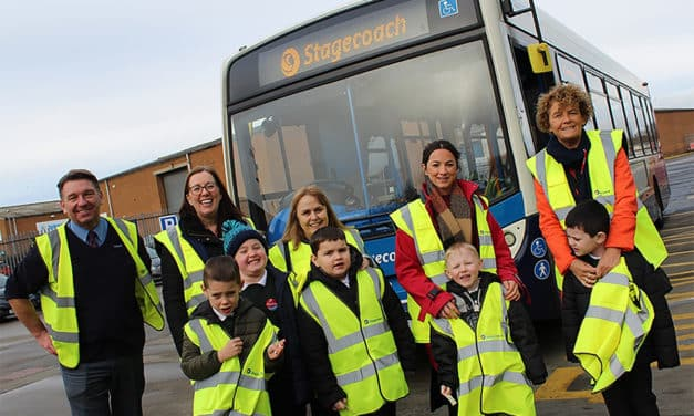 Pupils Have A Wheelie Good Time At Stockton Bus Depot