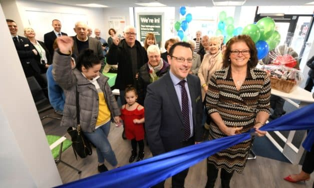 Local Charity Boss Sara Cuts The Ribbon At Upgraded Newcastle Building Society Ashington Branch