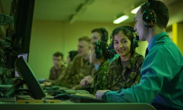 Cadets go behind the scenes at RAF Boulmer