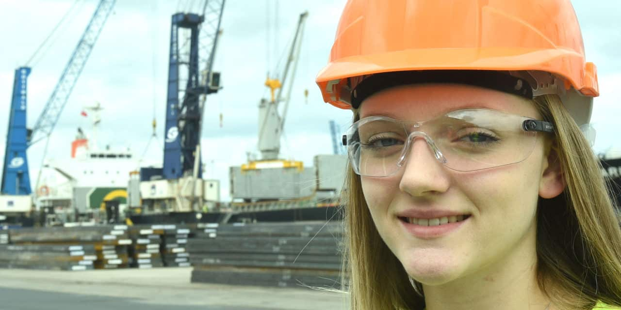 YOUNG EMILY LANDS A JOB IN CIVIL ENGINEERING AS PART OF NATIONAL APPRENTICESHIP WEEK