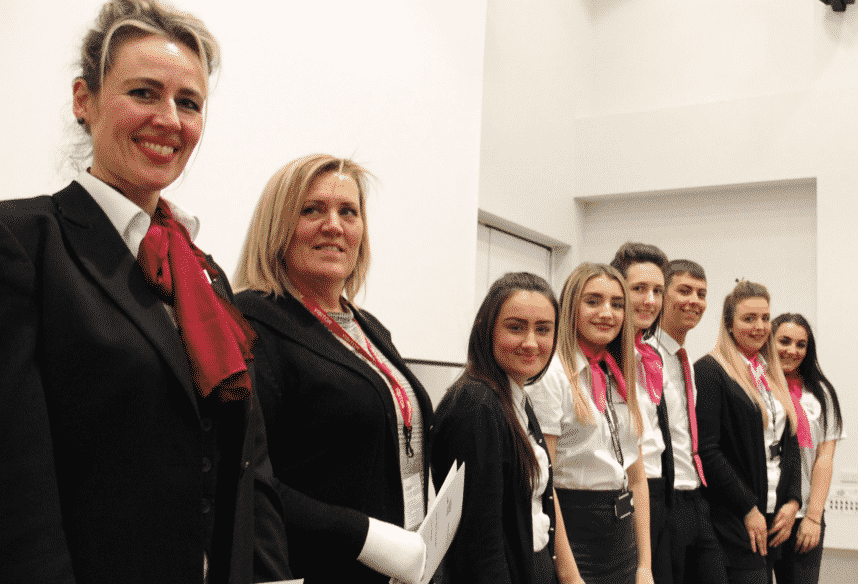 Hartlepool College Students Celebrate first ever Wings Ceremony