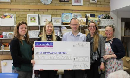 Procter and Gamble help improve wellbeing at St Oswald's Hospice