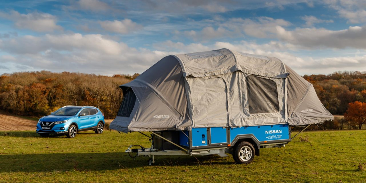 NISSAN x OPUS CONCEPT CAMPER USES SECOND-LIFE EV BATTERIES TO POWER 'OFF-GRID' ADVENTURES