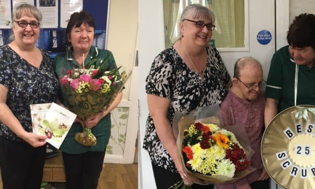 Care home housekeeper celebrates 25th work anniversary