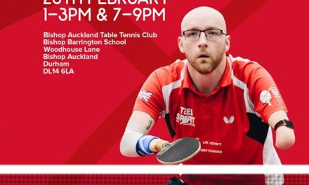 Para GB Table Tennis Recuitment Day at Bishop Auckland TTC