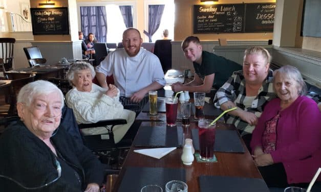 Pizza Day marked with pub outing for care home residents