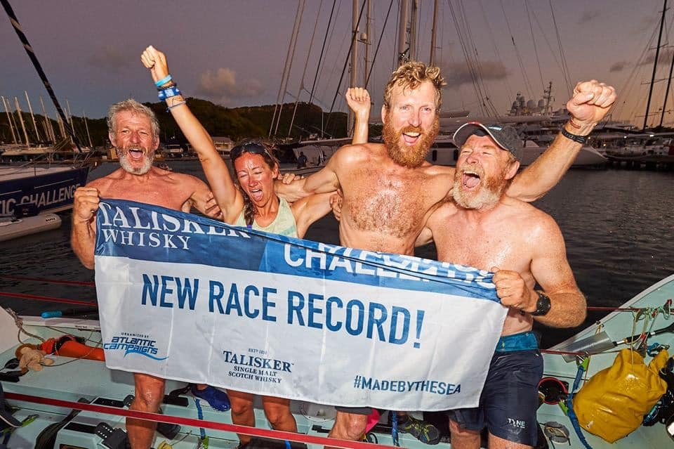Mammoth proud to help world record breaking Atlantic Challenge rowers reach dream finish