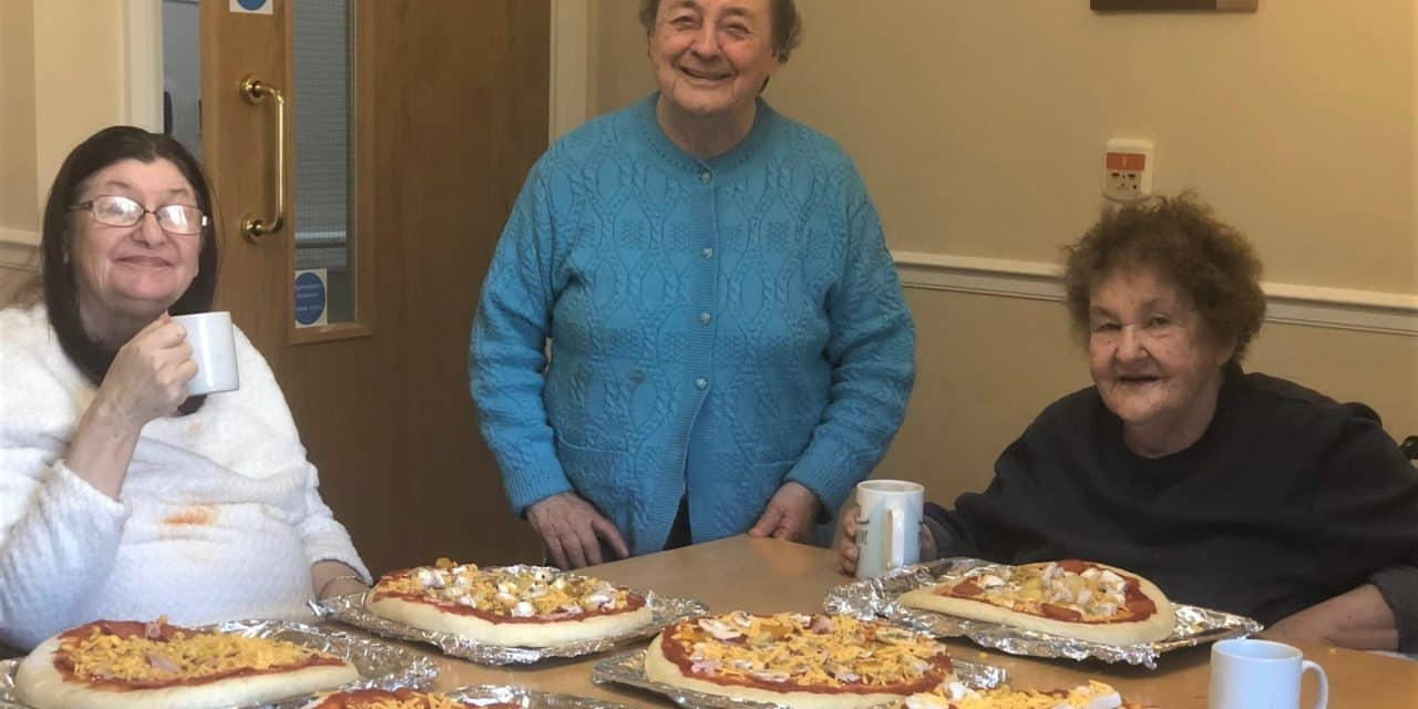 Care home turns into pizzeria for National Pizza Day
