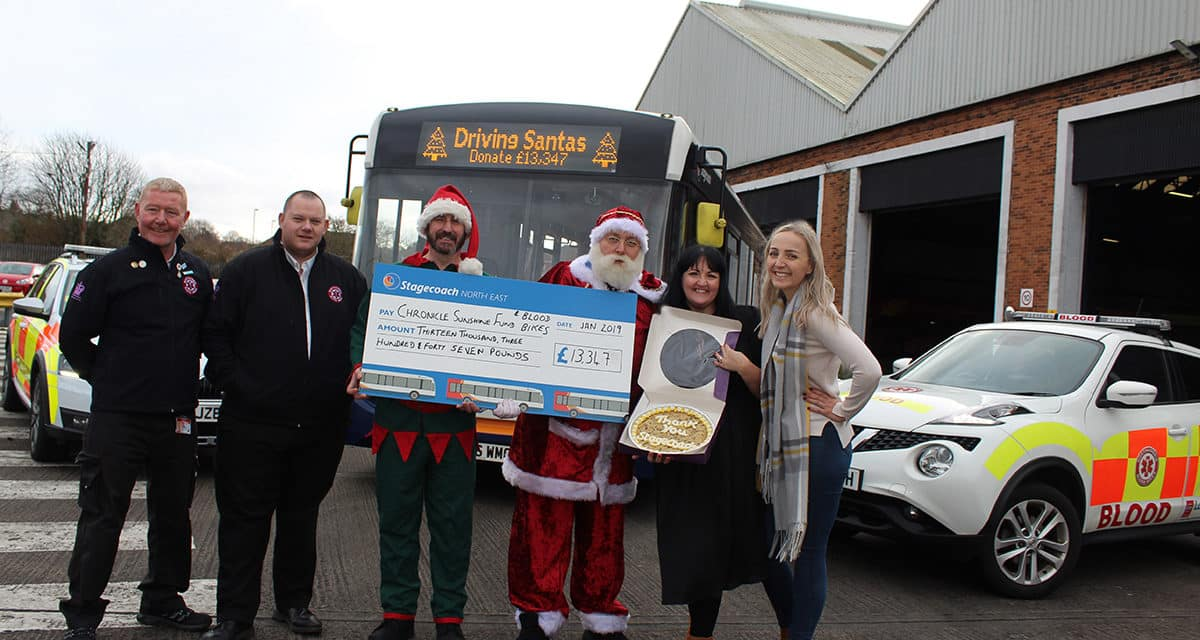 Bus Driving Santas Raise A Staggering £30,000 For Charity