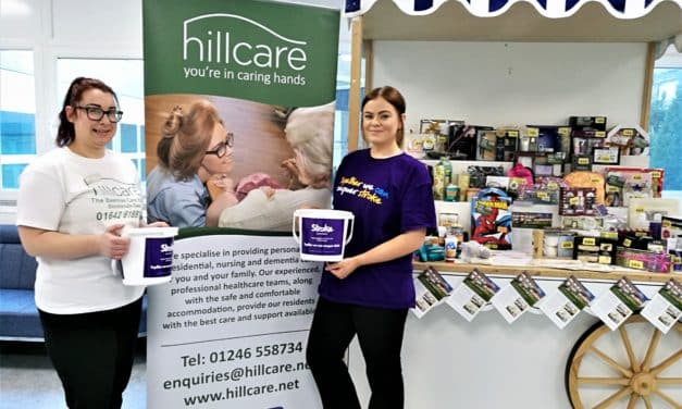 Hospital tombola helps care home raise funds for charity