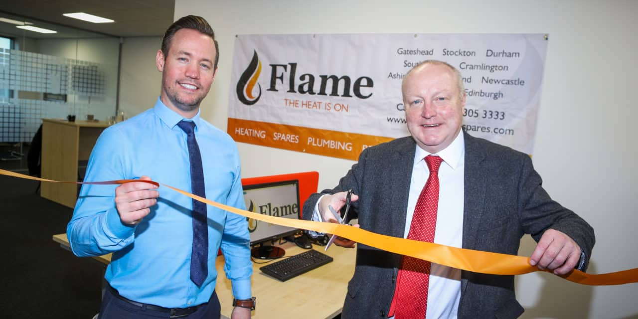 Jarrow MP toasts plumbing merchant's new Boldon head office
