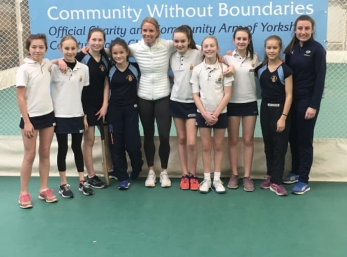 Young cricketers inspired by sporting hero