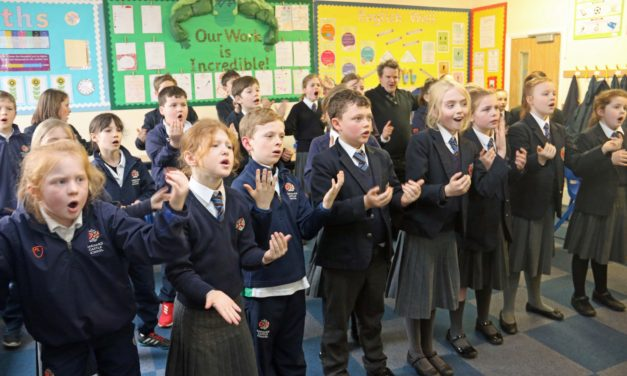 Prep School pupils learn sign language to 'sing' to the hearing impaired