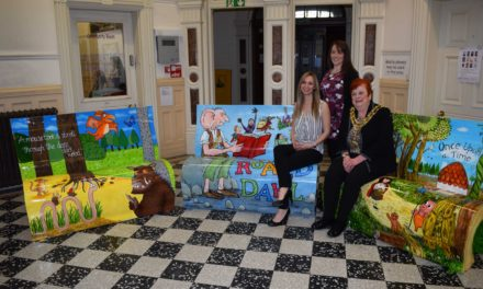 Colourful book benches take centre stage for launch of BookFest
