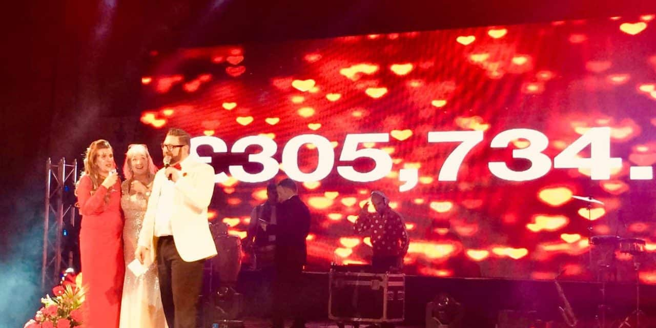 RED SKY BALL RAISES OVER £300,000 TO SUPPORT NORTH EAST HEART UNITS