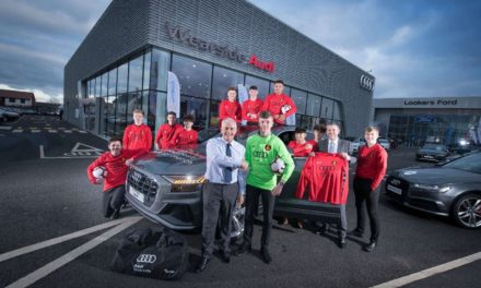 Dealership supports young footballers with new kits and additional support