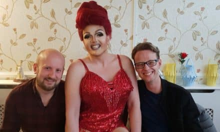 Drag queen's care home performance for LGBT History Month