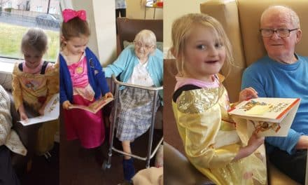 Disney characters at Tyneside care home on World Book Day
