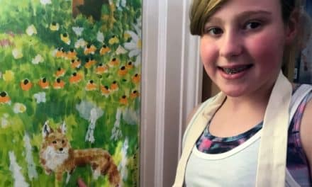 Roxie's winning artwork takes pride of place in Bedale Community Library