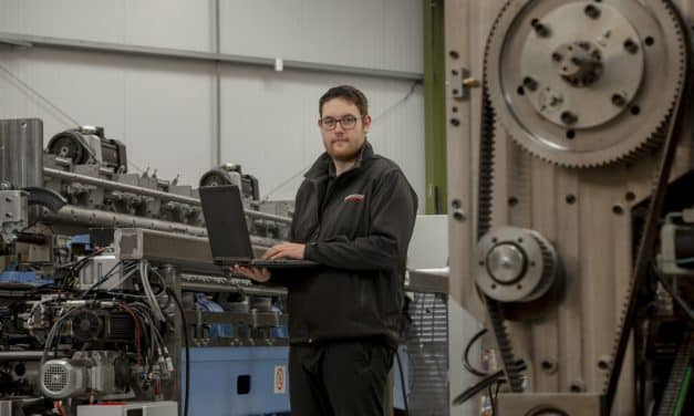 Graduate Cameron on a roll at textiles firm