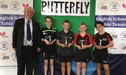Bronze medal at National Schools Finals for Bishop Auckland Table Tennis Player