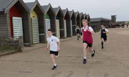 Cross country battle on Blyth beach as part of sporting festival