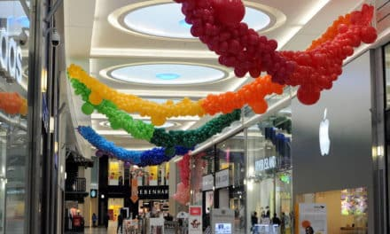 Shoppers delight at giant balloon displays inside intu Eldon Square