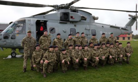 Students land a top prize as Royal Navy helicopter drops in