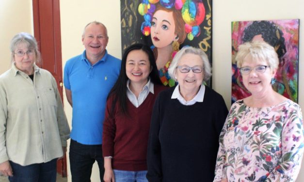 Amateur artists add splash of colour to historic setting