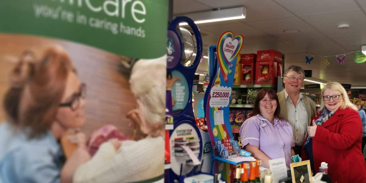Care home tombola helps fund war memorial