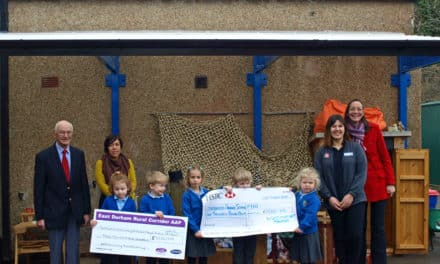 New canopy opens up outdoor learning opportunities for schoolchildren in Sedgefield