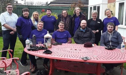 BT staff volunteer at Teesside care home