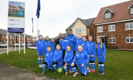 Whitley Bay youngsters score support from Miller Homes