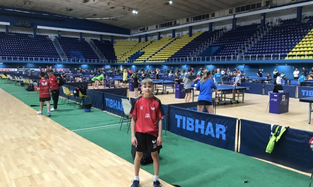 International debut for young table tennis player.
