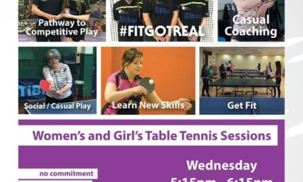 New Women's and Girls Table Tennis session at Bishop Auckland