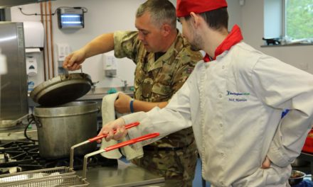 Students enjoy a taste of careers in the military