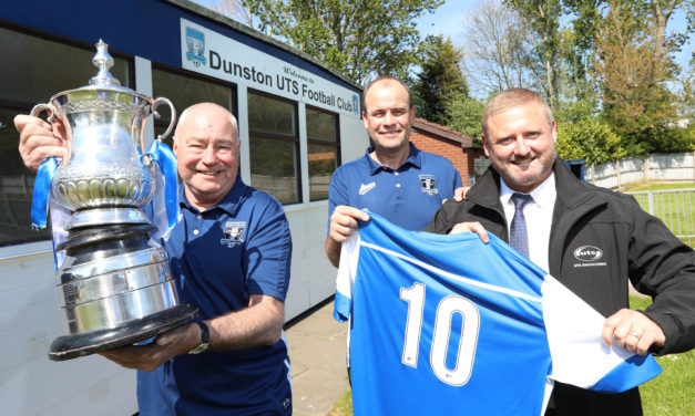 Celebrating ten years of sponsorship with the magnificent Dunston UTS FC