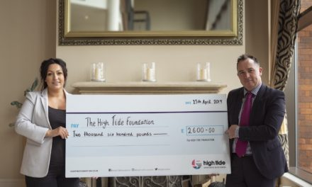 ROCKLIFFE HALL RAISES £2,600 FOR THE HIGH TIDE FOUNDATION