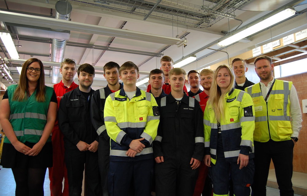 Chemistry builds as Hartlepool College of Further Education welcomes scientific apprentices
